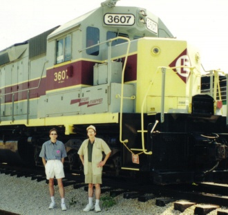 Dave and I; recent shot with EMD SD-45 built for Erie Lackawanna